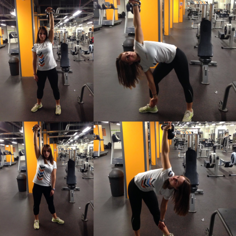Exercise Kettlebell Overhead Windmill Modified: Fitness4Less Healthy Hub