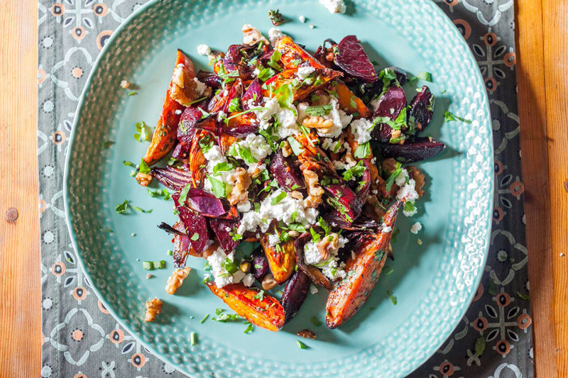 Sweet Potato and Goats Cheese Salad