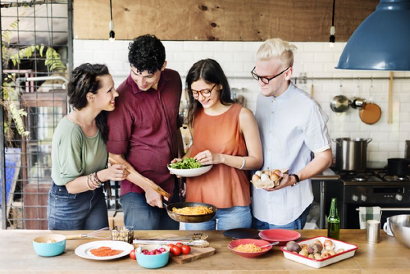 Cook with friends
